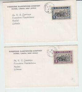 Liberia # 296-97 GBARANGA Cancelled Covers FDR
