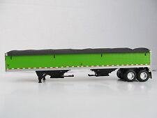 DCP 1/64 SCALE WILSON GRAIN TRAILER  LIME GREEN w BLACK TARP AND BLACK FRAME