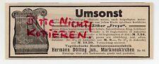 MARKNEUKIRCHEN, Werbung 1913, Hermann Dölling jun. Gitarre-Zither Freya Zitter