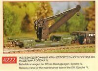 PERESVET 4222 - Railway Crane / Behelfskranwagen als Bauzug DR Ep.IV / TT 1:120