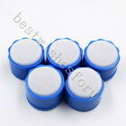 Dental Round Endo Clean Stand Cleaning Foam Sponge File Holder Base Blue 5 Pcs