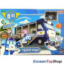 Robocar Poli Mobile Headquarter Convertible Trailer Carrier Toy w/ Diecast Poli