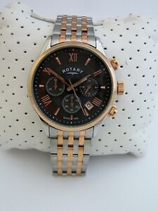 ROTARY MENS WATCH GB00645/04 CHRONOGRAPH ROSE GOLD STAINLESS STEEL GENUINE