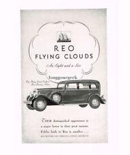 1931 Reo Flying Cloud Automobile Car art Vtg Print Ad