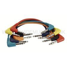 6 Stereo Patch Lead/cavi con spine Angolo Retto Jack-lunghi 60cm-fl4260