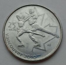Canada 25 Cents 2008. Figure Skating. ⛸ Quarter dollar coin. Vancouver 2010