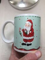 Santa Claus Christmas Candy Cane Coffee Cup Mug 8oz