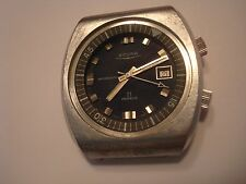 Vintage Sicura 21j Swiss SIC21 Men's Watch Movement Dial Hands & Case