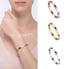 Elegant Love Screw Embossed Bracelet Rose Gold Bangle Cuff Party Gift