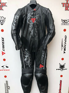 Dainese YuYu Ladies 1 piece race suit with hump uk 10 euro 42