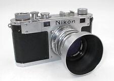 *Vintage* Nikon S 35Mm Rangefinder W/Nikkor-H.C 5cm F2 Lens W/Filter & Hood