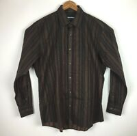 Johnston and Murphy Men's Tailored Fit Size L Front Button Long Sleeve Shirt