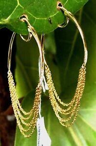 Celara 14k Gold Diamond Hoop Earrings New in Box with Tags Retail: $1250