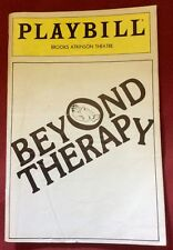 Playbill Beyond Therapy Brooks Atkinson Theatre June 1982 Lithgow Hyde Pierce