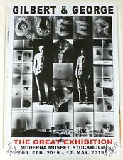 Gilbert and George - Queer    2019 SIGNED SWEDISH ART EXHIBITION POSTER #2