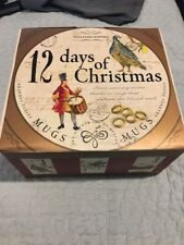 Williams Sonoma 12 Days of Christmas Mugs Set Of 4 NEW In Box Holiday Coffee Tea