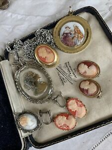 Collection Vintage 1950s/60s/70s Cameo Jewellery