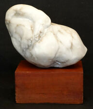 CARVED MARBLE Vintage ABSTRACT GOOSE Modernist MID CENTURY MODERN Art Sculpture