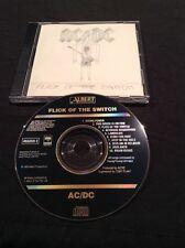 AC/DC FLICK OF THE SWITCH CD AUSTRALIA EARLY PRESSING BLACK ALBERT 465259 2 SONY