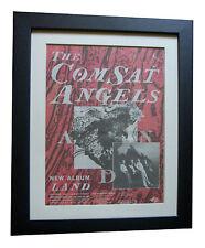 COMSAT ANGELS+Land+TOUR+POSTER+AD+RARE+ORIGINAL 1983+FRAMED+EXPRESS GLOBAL SHIP