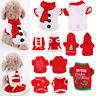 Cute Dog Puppy Christmas Santa Warm Costumes Coat Clothes Pet Cat Apparel Shirt