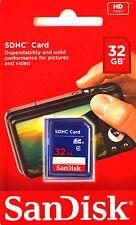 SD Card SanDisk 32GB SDHC DSLR Video Camera Memory Card Genuine