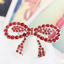 New Women Crystal Breastpin Bouquet Dianante Gemstone Bowknot Gifts Pin Brooch