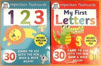 Wipeclean Flashcards My First Letters & 123 New & Sealed