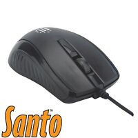 Manhattan Wired USB Optical 3-Button Mouse 1000dpi
