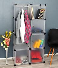 Ts-ideen – armario estante Estantería ropero perchero para la ropa en blanco