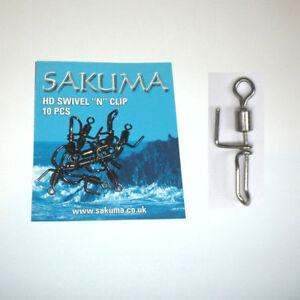 Sakuma Swivel 'N' Clip - 10 per pack - Size 5 Cascade Swivels - Rig Components