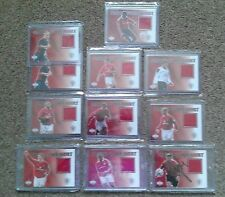 Upper Deck 2002 Manchester United Match Worn Jersey Card Lot x10 All different