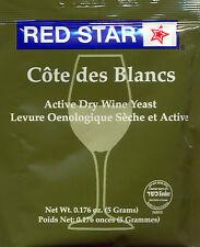Red Star Cote de Blanc Wine Yeast, 5g - 2-Pack