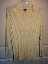 NWT Women's A.N.A. ANA Ivory Chunky V-Neck Long Sleeve  Sweater Top Plus Size 2X