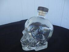 triple diamond vodka glass skull bottle empty