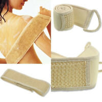 Exfoliating Back Scrubber Bath Shower Strap Loofah Spa Skin Brush Sponge Body US