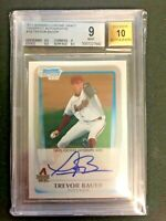 🔥2011 Bowman Chrome Trevor Bauer Base Auto Rookie BGS 9/10 Cy Young Dodgers! 🔥