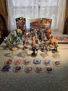Large Disney Infinity Lot 33 Figures Star Wars Avengers Frozen Monsters Mickey