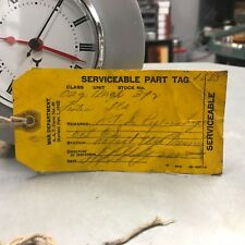 Original War Department 1942 Yellow WWII Aviation Serviceable Part Tag in Pencil