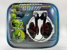 Koss Sporta Pro Foldable Stereo Deep Bass Headphones Flexible Design Headband