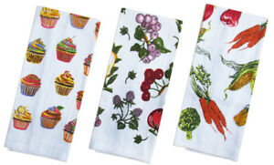 3 Pack Tea Towels Terry Cotton Kitchen Dish Cloth Cleaning Drying