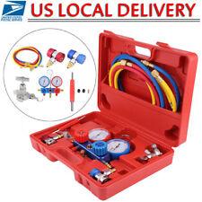 R134A HVAC A/C Refrigeration Kit AC Manifold Gauge Set Auto Serivice Tool Kits