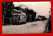 Postcard Size Tram Photo ~ Buenos Aires Double-Decker Car 40 - Argentina: 1900