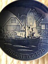 Royal Copenhagen Christmas Plate Jule After 1976 Christmas Welcome Ship Village