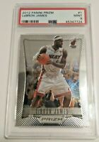 LeBron James 2012-13 Panini Prizm #1 Miami Heat NBA PSA 9 Mint 1st Year Prizm