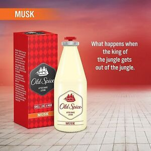 Old Spice After Shave Lotion Smell Like A Man-150ml (MUSK) SPLASH, Free Ship