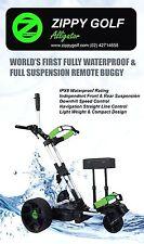 Zippy Golf IP68 Waterproof Full Suspension Remote Golf Buggy Lithium Xmas gift