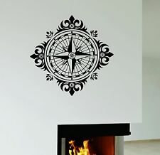 Wall Decal Wind Rose Vintage Decor Decoration Room Vinyl Stickers (ig3007)