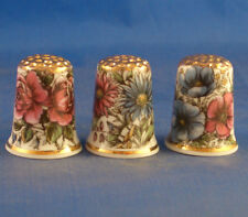 Birchcroft Thimbles -- Set of Three  -- Vintage Floral Designs ( Make Offer )