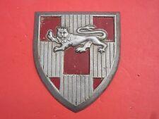 Rare Vintage 1966 Scovill Cast Aluminum Coat of Arms Shield w/ Lion Wall Hanger